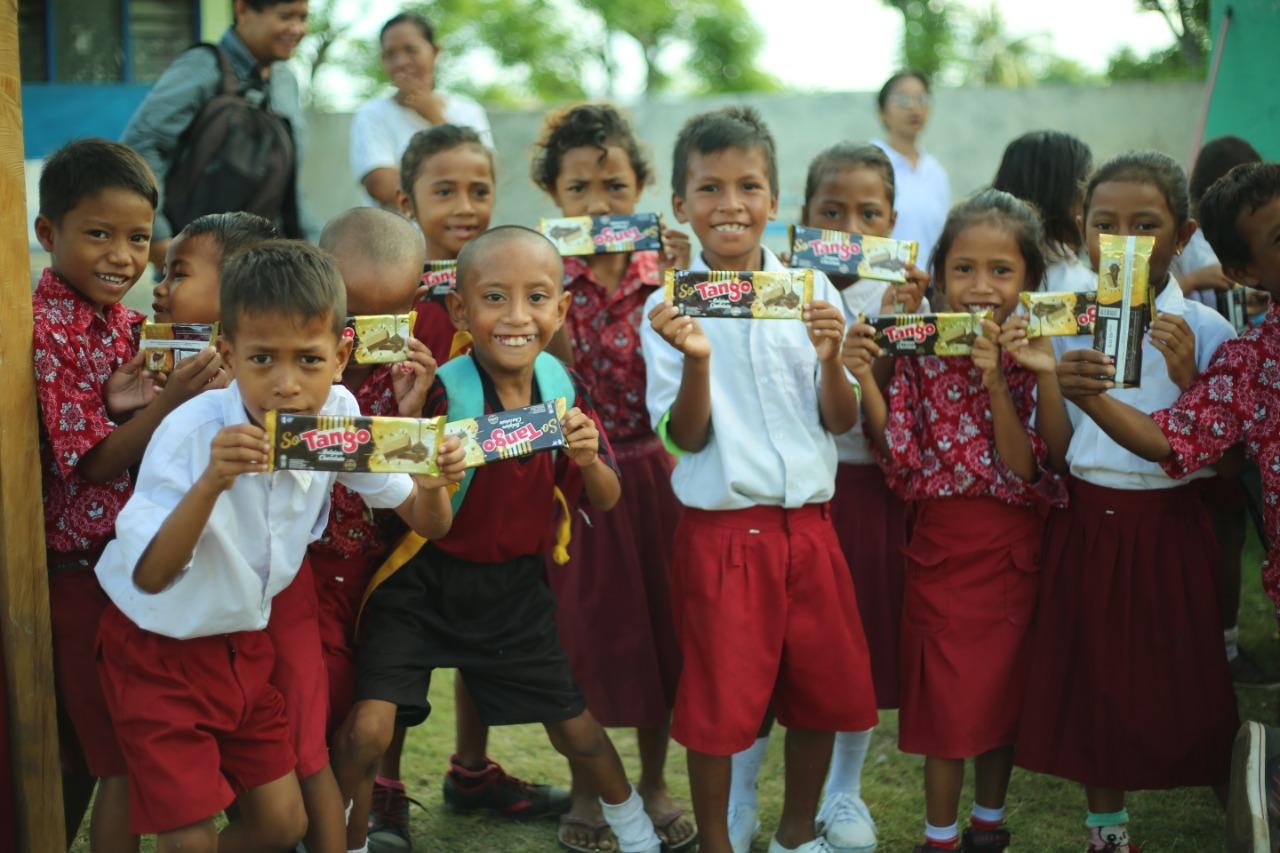 Aksi Sosial Tango Peduli Gizi Anak Indonesia Jelang Gala Premier Milea
