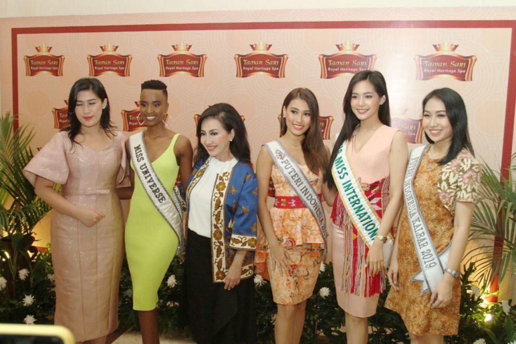 Tiga Putri Dunia Kunjungi Taman Sari Royal Heritage Spa