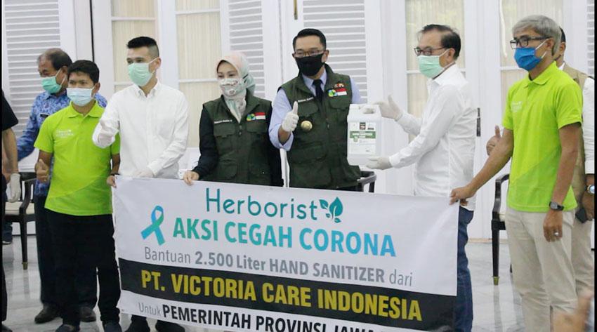 Aksi Cegah Corona Herborist Berlanjut di Jawa Barat