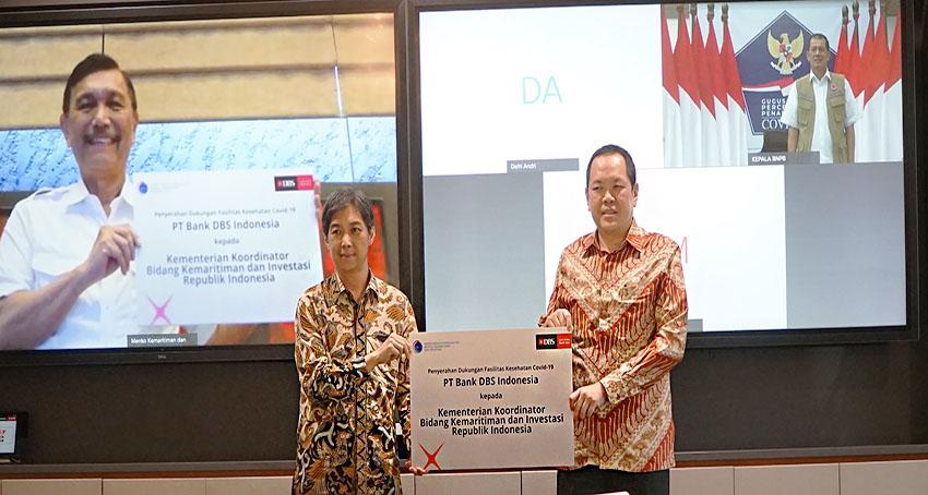 Bank DBS Indonesia Gandeng Kemenko Maritim  Lawan Covid-19