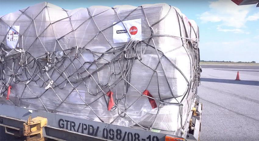 AirAsia Indonesia Jawab Permintaan Kargo RitelLewat Teleport Indonesia