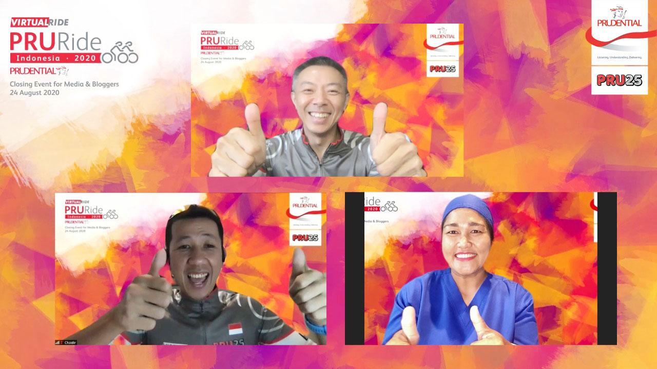 PRURide Indonesia 2020 Virtual Ride Diikuti 3.000 Peserta