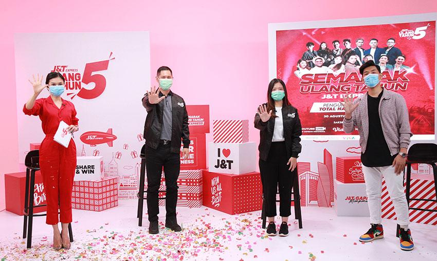 J&T Express Gelar Rangkaian Semarak Ulang Tahun Ke-5