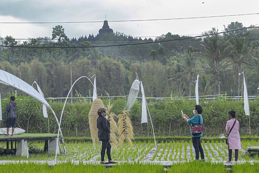 Svarga Bumi, Menyulap Area Persawahan jadi Spot Foto Asyik Berlatar Borobudur