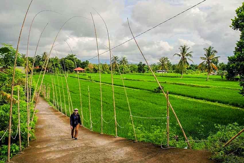 Kunjungi Lombok, Menparekraf Dorong Daya Tarik Desa Wisata Bilebante