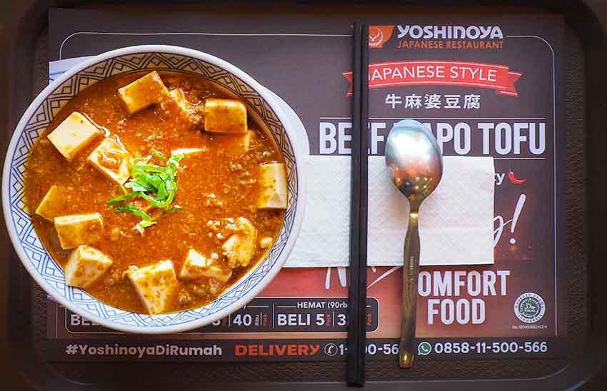 Yoshinoya Hadirkan Japanese Style Beef Mapo Tofu