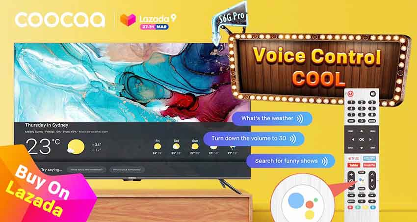 Luncurkan Smart TV S6G Pro, coocaa Ramaikan  Lazada Super Party Ke-9