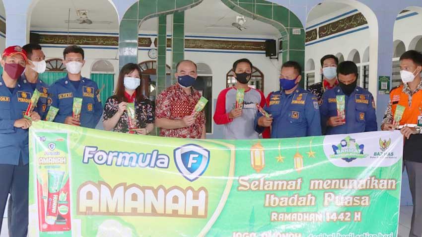 "Kampanyekan ""Jaga Amanah"", Formula dan Baznas Bagikan Produk Formula Amanah di Ratusan Masjid"