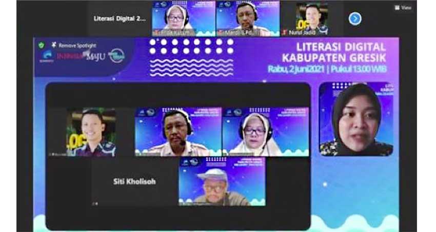 Webinar Literasi Digital Hadir di Kabupaten Gresik