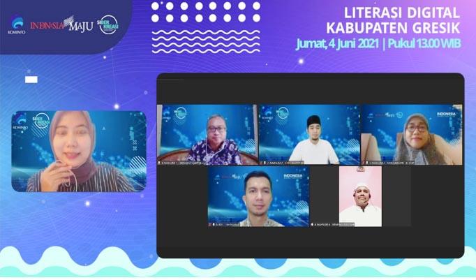 Webinar Literasi Digital Rambah Kabupaten Gresik