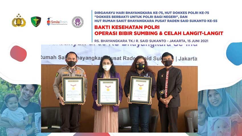 Smile Train Indonesia Gandeng PUSDOKKES POLRI dan PERAPI Gelar Bakti Sosial Operasi Bibir Sumbing