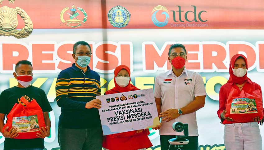 ITDC Fasilitasi Vaksinasi Bagi 3000 Masyarakat di Mandalika