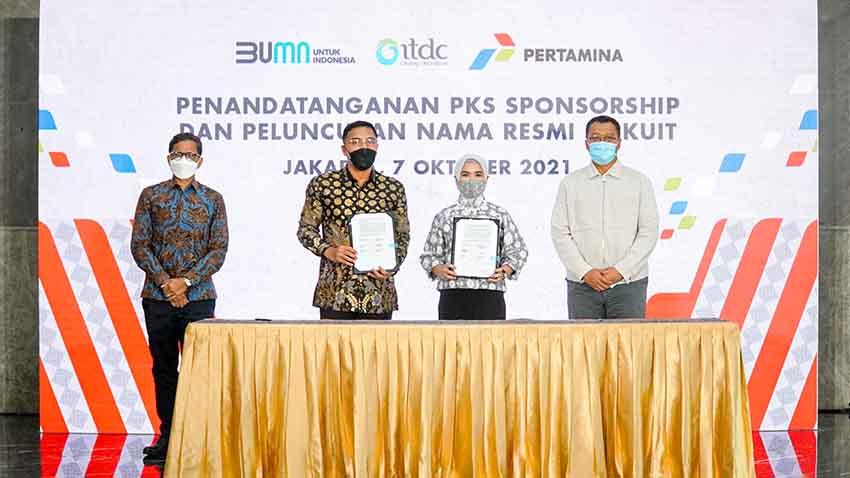 ITDC dan Pertamina Tanda Tangani Kerjasama Sponsorship MOTOGP 2022