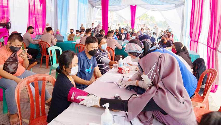 Griya Idola Industrial Park Dukung Program Vaksinasi Polsek Cikupa